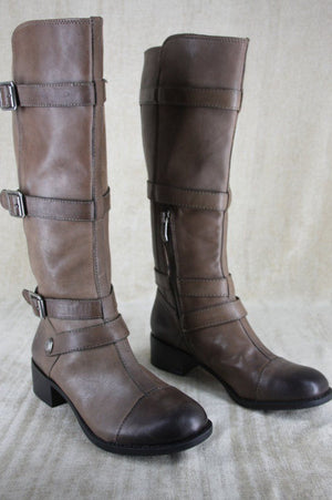 Vince Camuto Taupe Leather 'Solo2' Riding Boots Size 6 NEW $249