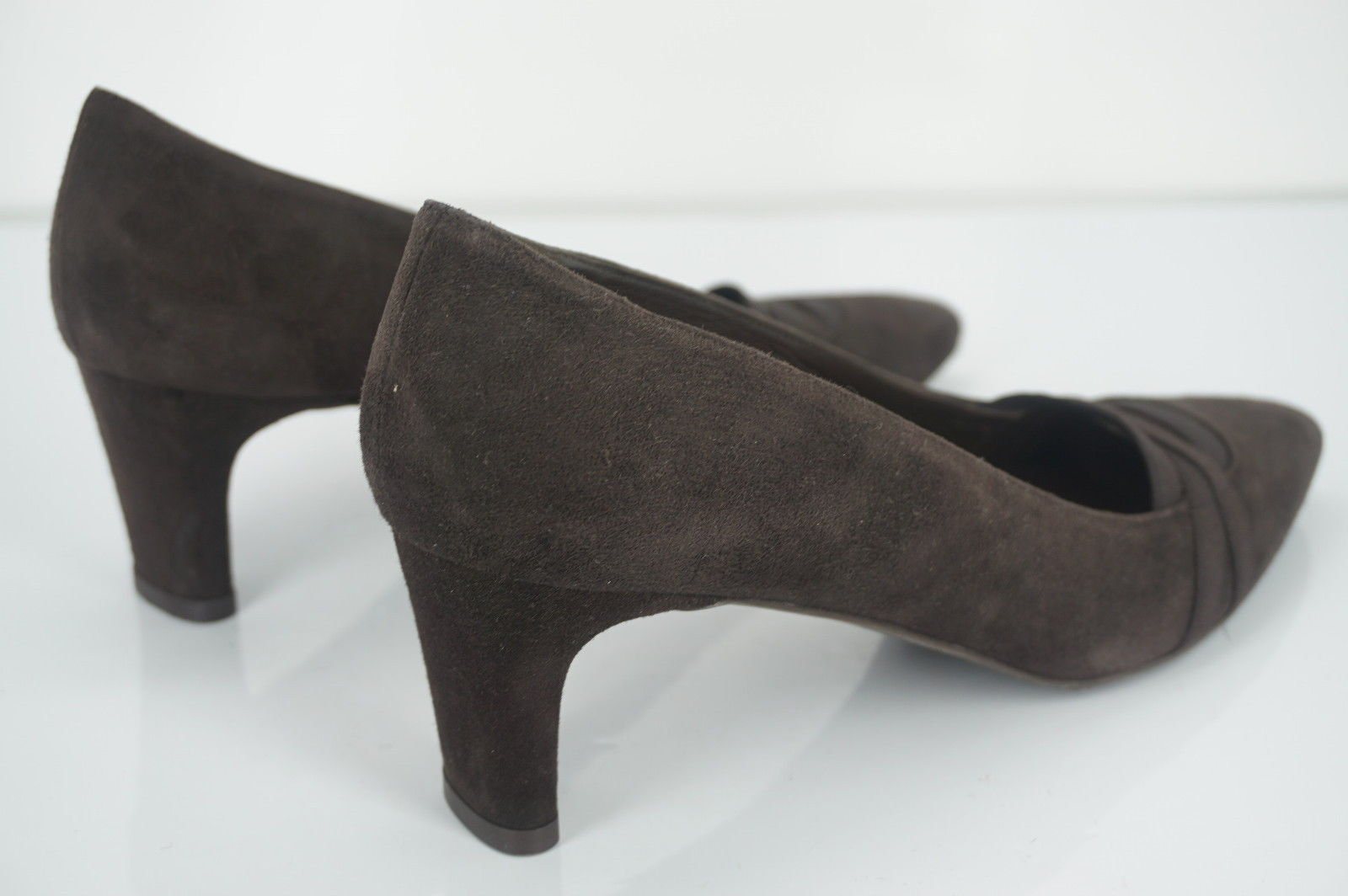 Stuart Weitzman brown Suede Bandexsvelt Pointed Toe Heel Pumps Size 7 New $385