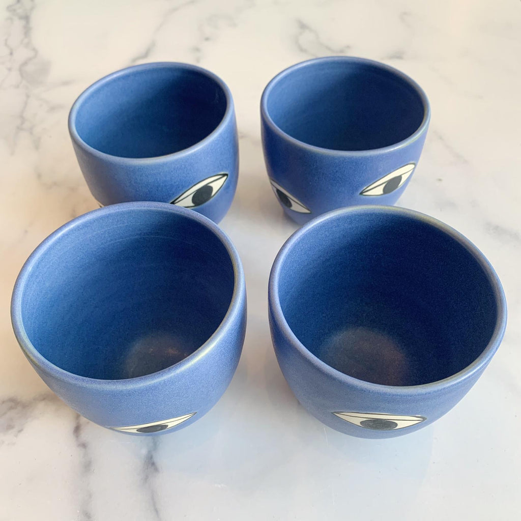 Many Eyes Cobalt Cup