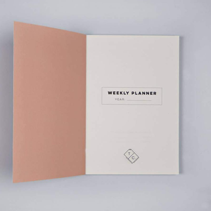 Weekly Lay Flat Planner Book
