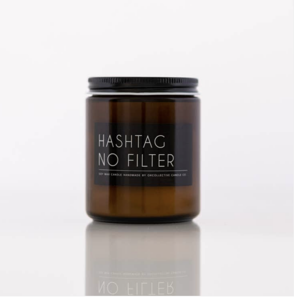Hashtag No Filter Candle: Soy Wax Candle | Frangipani