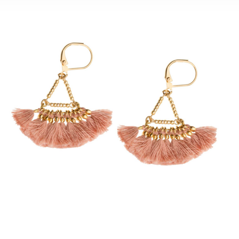 Lilu Tassel earring Rose