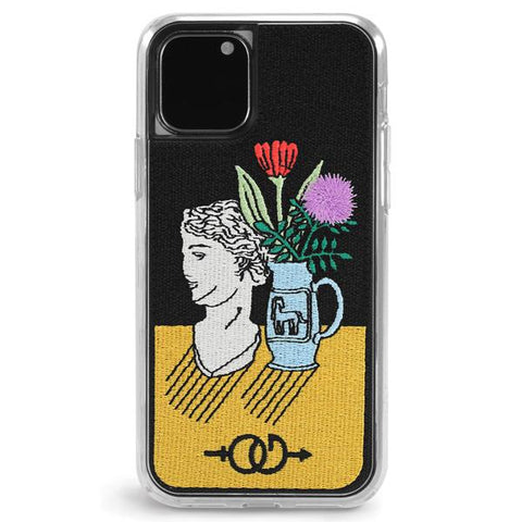 Profile Embroidered iPhone Case