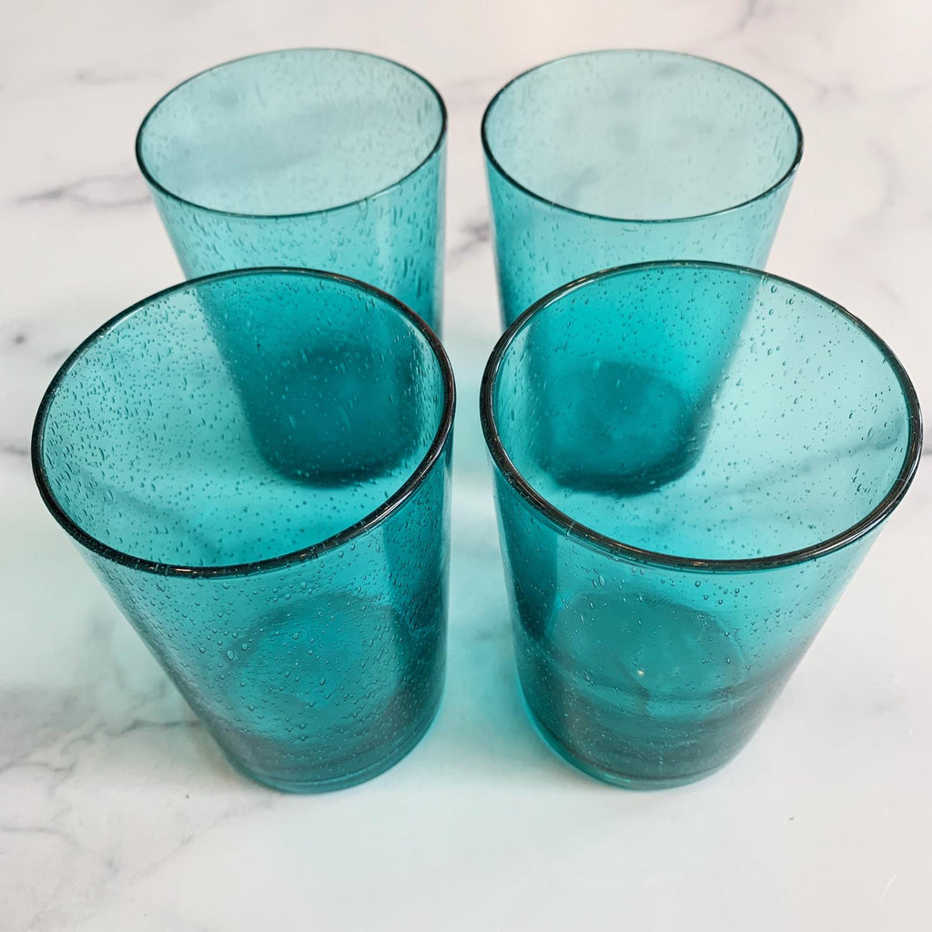 Turquoise Recycled Glasses