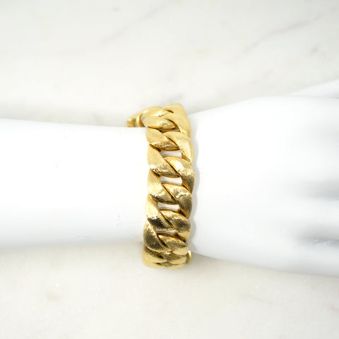 Double-Sided 18K Curb Link Bracelet, Abel & Zimmerman available at Fonfrege.com