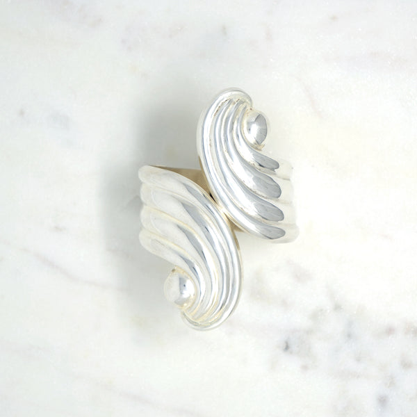 Deco Wave Cuff, Taxco  Designer: Unknown  Material: 925 sterling silver  Period: 1940s  Available at Fonfrege.com