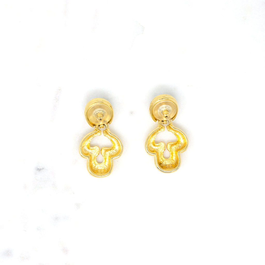 "Givenchy Baroque ""Door Knocker"" Earrings"
