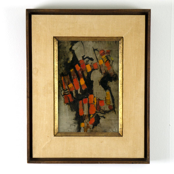 """Les Clowns""  Artist: Yann LeSech  Period: 1962  Medium: Oil on canvas board. Available at Fonfrege.com"