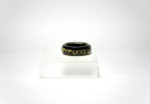 Lucite Chain Bangle Bracelet