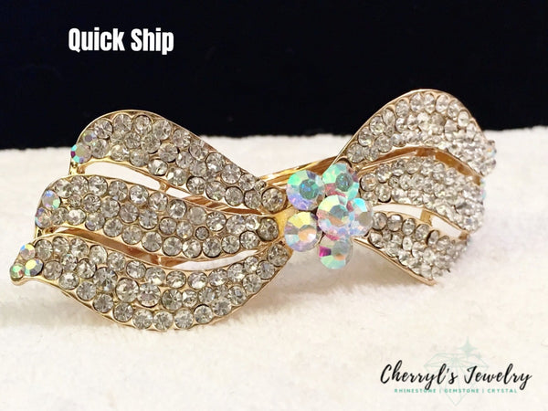 Ab Crystal And Rhinestone Hair Barrette Accessories