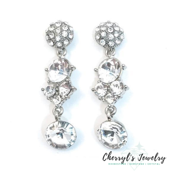 Clear Crystals Rhinestones And Pave Dangle Earrings (2)