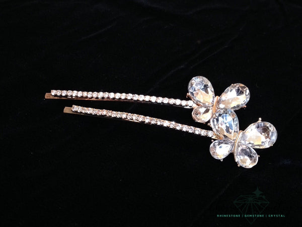 Crystal Butterfly Hair Pins Accessories