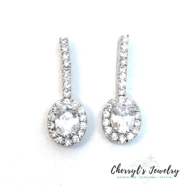 Rhinestone And Cubic Zirconia Classic Fixed Drop Earrings