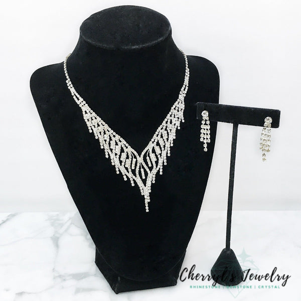 Special Occasion Rhinestone Necklace Set Sets
