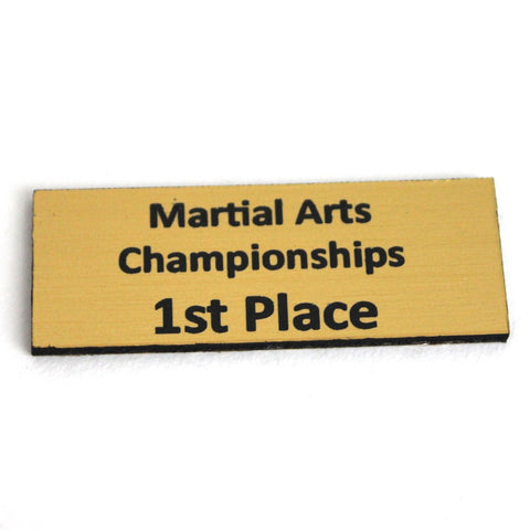 Trophy Name Plate 1st, trophy, martial arts trophy, trophy martial arts, trophy martial art