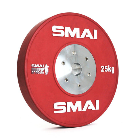 Aphesis Competition Bumper 25kg Plates Weightlifting Crossfit Barbell