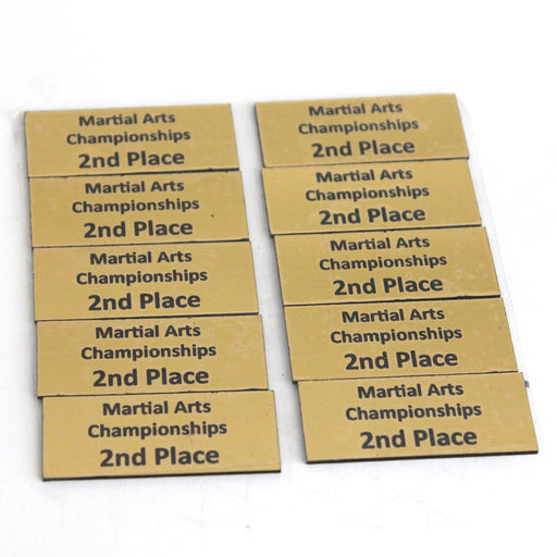 Trophy Name Plate 2nd, trophy, martial arts trophy, trophy martial arts, trophy martial art
