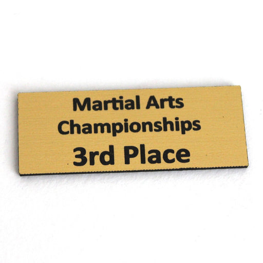 Trophy Name Plate 3rd, trophy, martial arts trophy, trophy martial arts, trophy martial art