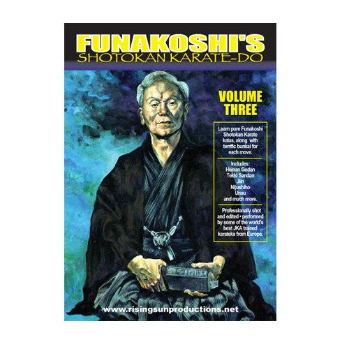 Funakoshi Shotokan Vol. 3, martial arts dvd, martial arts dvds, martial arts movies dvds, martial arts instructional dvd, mixed martial arts dvd, martial arts training dvd, martial arts workout dvd, martial arts dvd movies, martial arts weapons dvd