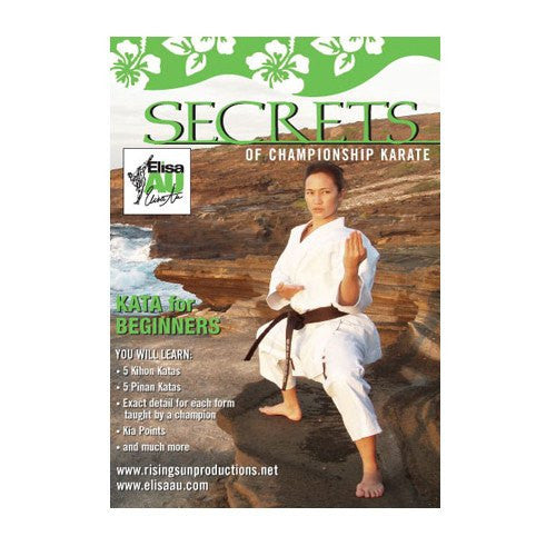 Elisa Au Karate Beginners Kata, martial arts dvd, martial arts dvds, martial arts movies dvds, martial arts instructional dvd, mixed martial arts dvd, martial arts training dvd, martial arts workout dvd, martial arts dvd movies, martial arts weapons dvd