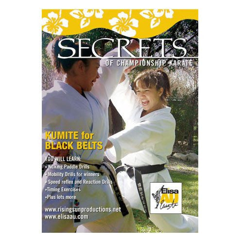 Secrets of Championship Karate, Elisa Au, Kumite Black Belt, martial arts dvd, martial arts dvds, martial arts movies dvds, martial arts instructional dvd, mixed martial arts dvd, martial arts training dvd, martial arts workout dvd, martial arts dvd movies, martial arts weapons dvd