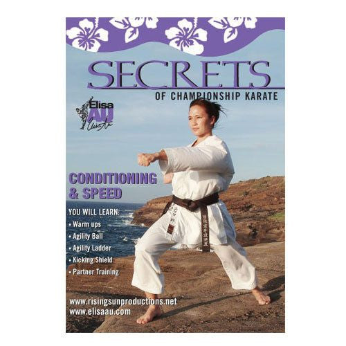 Elisa Au Conditioning, workout, conditioning and speed training drills karate, martial arts dvd, martial arts dvds, martial arts movies dvds, martial arts instructional dvd, mixed martial arts dvd, martial arts training dvd, martial arts workout dvd, martial arts dvd movies, martial arts weapons dvd