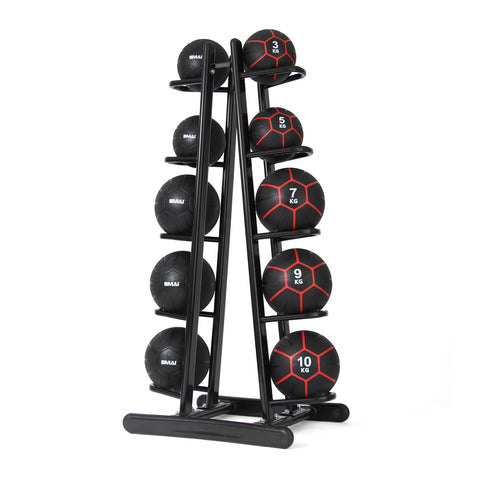Commercial Medicine Ball Set 34kg with Storage Rack