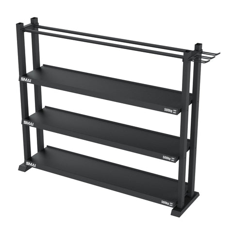 SMAI Storage Rack, Gym Storage, Steel Shelves, Storage, Shelving, 500kg shelf capacity