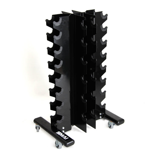 Rubber Hex Dumbbell Set 1-10kg (Pair) with Storage Rack
