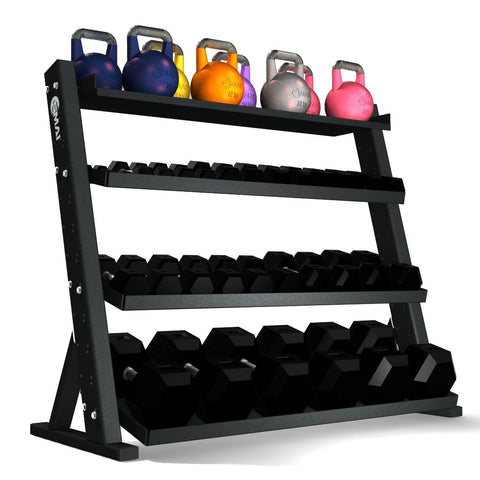 gym equipment rack, kettlebell storage, kettlebell rack storage, kettlebell weights storage, dumbbell storage, dumbbell rack storage