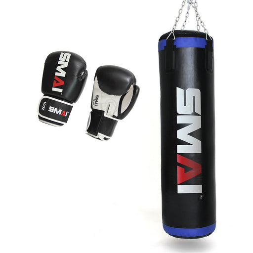 Home Gym Boxing Combo 4FT Punching Bag + Essential Glove