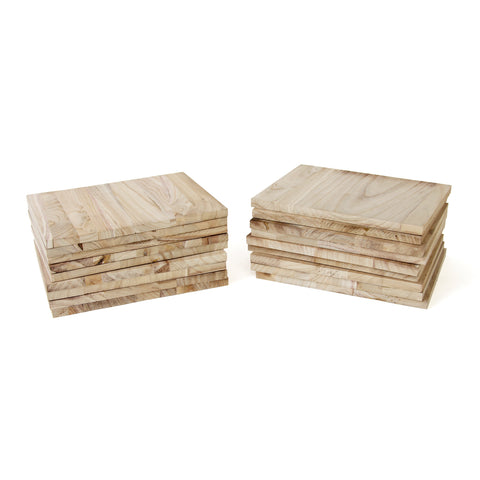 Paulownia Wood Break Boards - 20 pk of 1.5cm