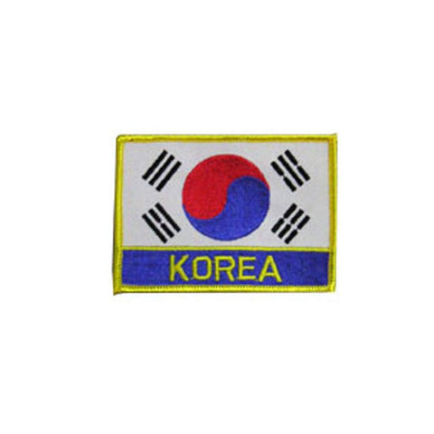Badge Korean Flag, Martial arts badge, martial arts patches, karate patches, karate badges, taekwondo patches, kung fu patches, karate uniform patches