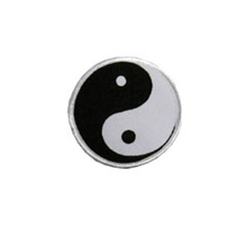 Yin and Yang badge, Martial arts badge, martial arts patches, karate patches, karate badges, taekwondo patches, kung fu patches, karate uniform patches
