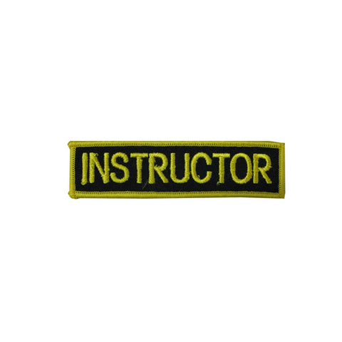 Badge Instructor Black and Gold, Martial arts badge, martial arts patches, karate patches, karate badges, taekwondo patches, kung fu patches, karate uniform patches