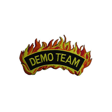 Badge Flame Demo Team, Martial arts badge, martial arts patches, karate patches, karate badges, taekwondo patches, kung fu patches, karate uniform patches