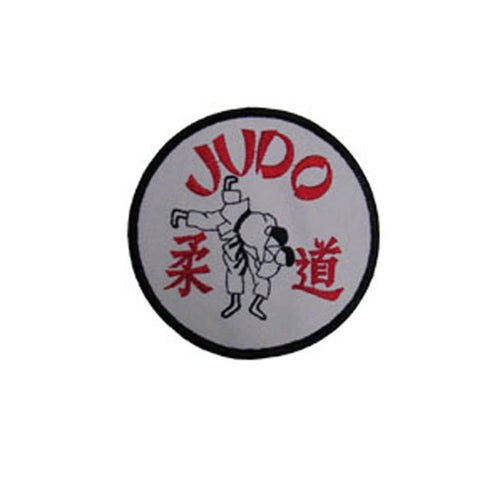 Badge Judo White, Martial arts badge, martial arts patches, karate patches, karate badges, taekwondo patches, kung fu patches, karate uniform patches