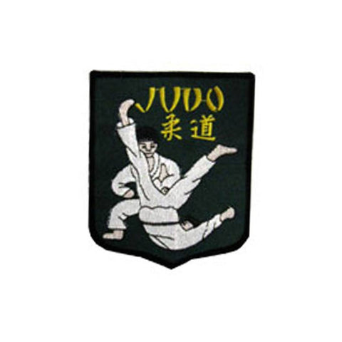 Badge Judo Shield Green, Martial arts badge, martial arts patches, karate patches, karate badges, taekwondo patches, kung fu patches, karate uniform patches