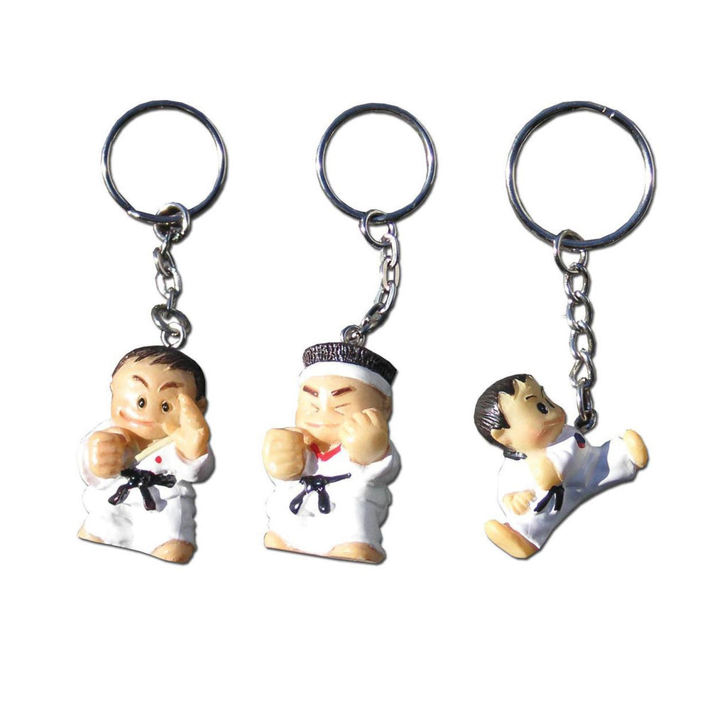 3D Mini Cartoon Man Key Ring, karate, keyring, karate kid, karate gold, karate gear, wkf karate
