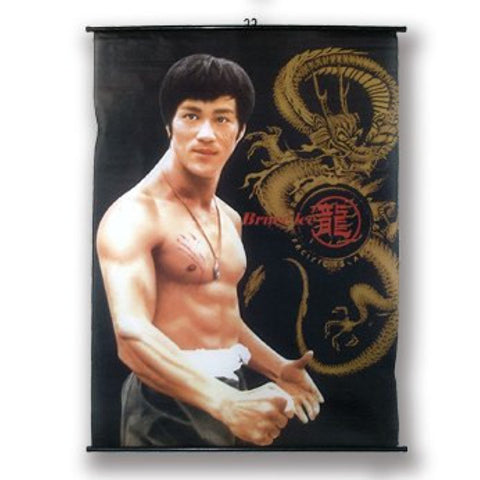 Bruce Lee Fabric Scroll - Assorted