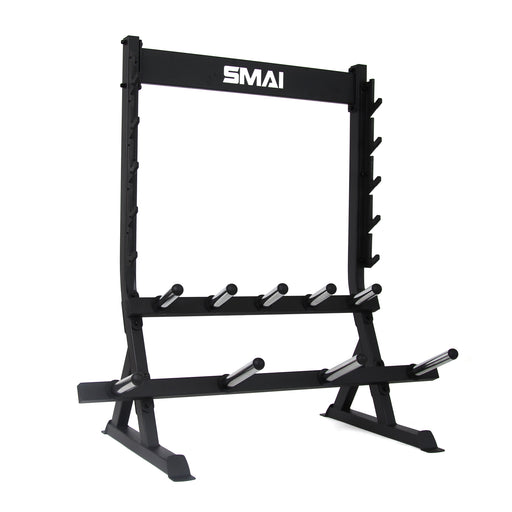 Bumper Plate and Barbell Rack Freestanding