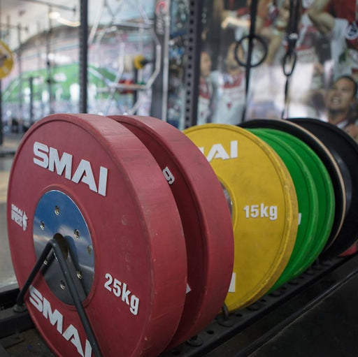 SMAI competition bumper plates at the St George Illawarra Dragons.