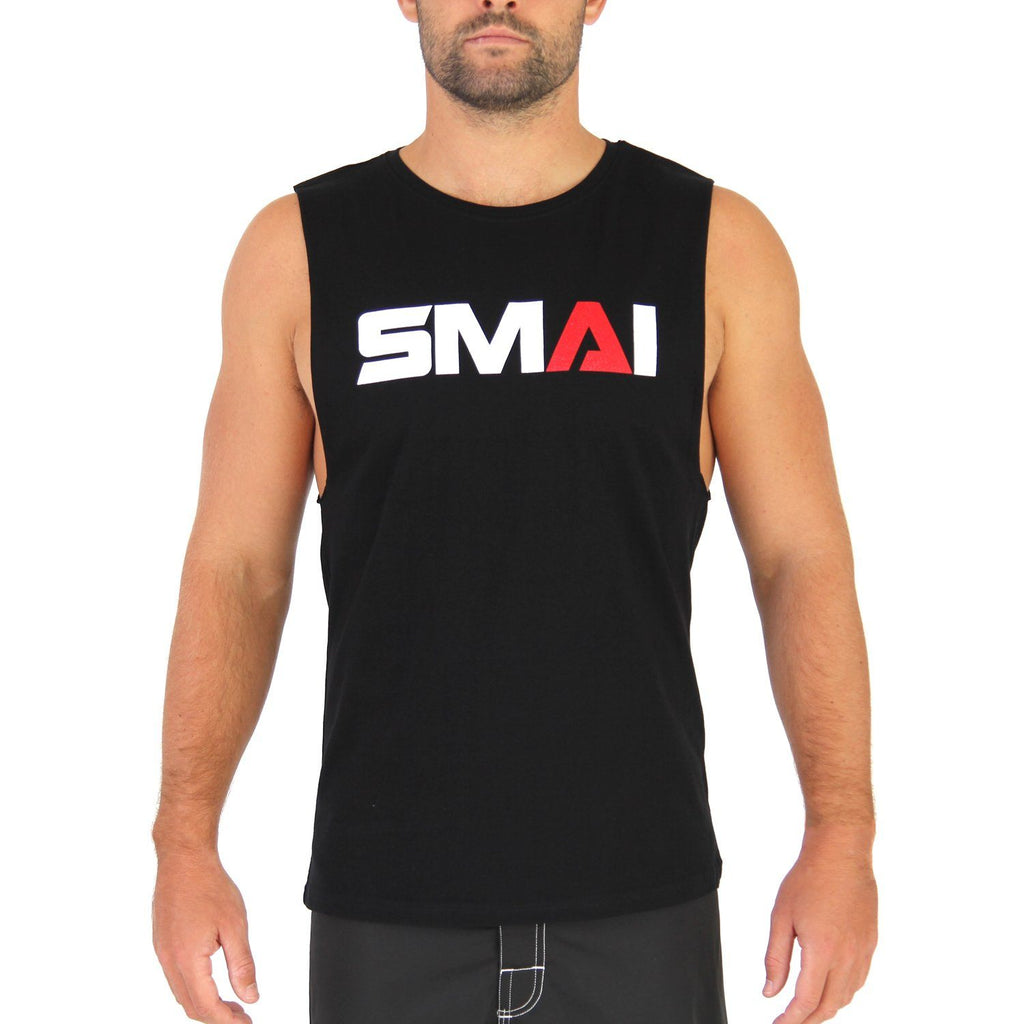 SMAI Men's Muscle Tank Black, Apparel, Tank Tee, Shirt