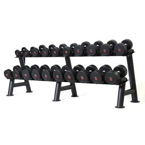 Commercial PU Dumbbell Set with Rack 5-30kg