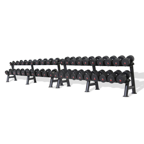 Commercial PU Dumbbell Set with Rack 5-60kg