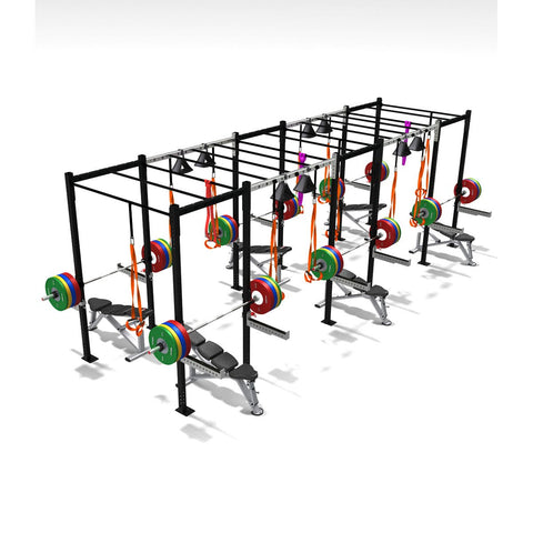Six Squat Full Cell Variation, squat rack, squat rack mount, olympic squat rack, squat racks, weight rack, gym rig, crossfit rig