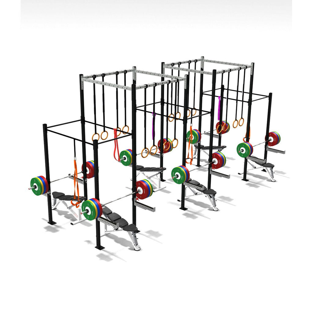 Six Squat Full Cell With High Overpass, squat rack, squat rack mount, olympic squat rack, squat racks, weight rack, gym rig, crossfit rig