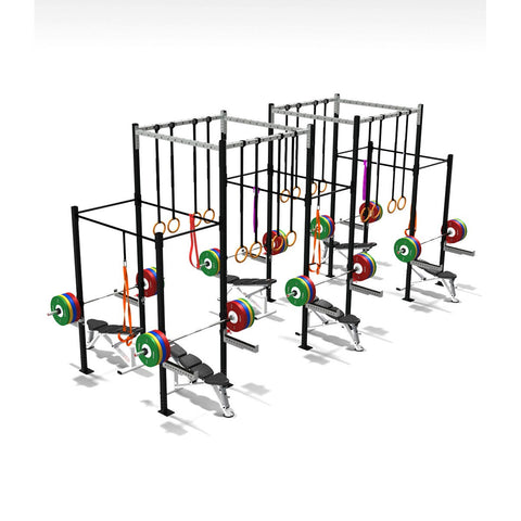 Six Squat Full Cell With High Overpass, Crossfit Frames, Rigs & Racks