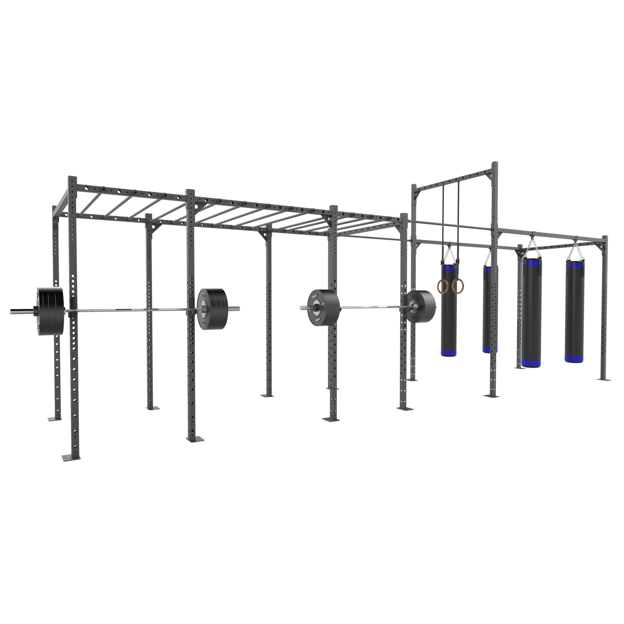 Rig - 4 Squat Cells with Boxing Training Hub