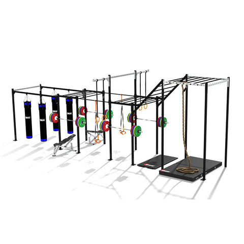 Four Squat Training Hub Variation, squat rack, squat rack mount, olympic squat rack, squat racks, weight rack, gym rig, crossfit rig